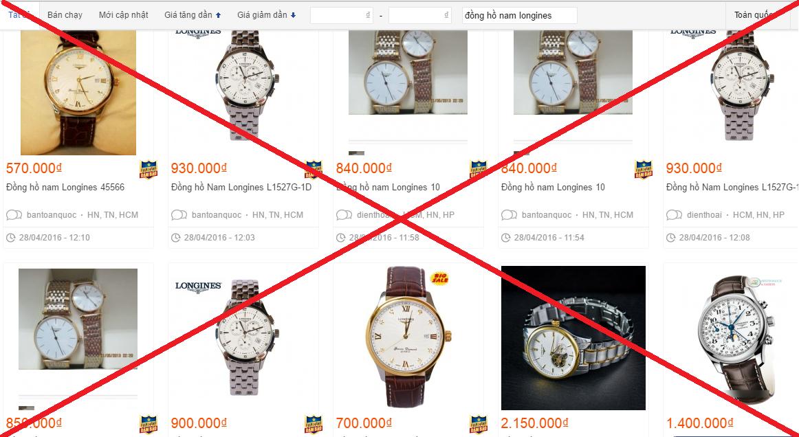 Cách phân biệt đồng hồ Longines qua giá