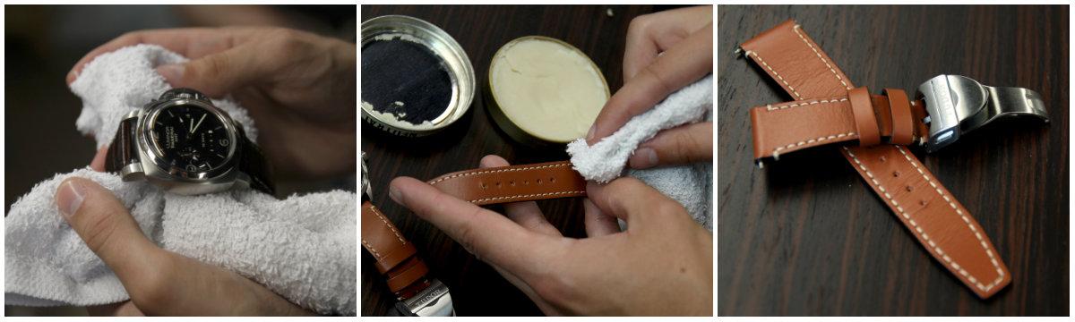 cách bảo quản dây da đồng hồ qua vệ sinh