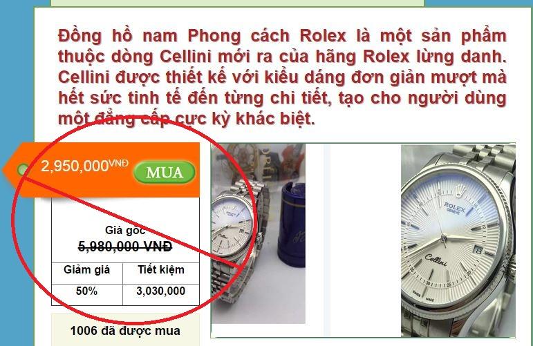 cách nhận biết đồng hồ chính hãng qua giảm giá