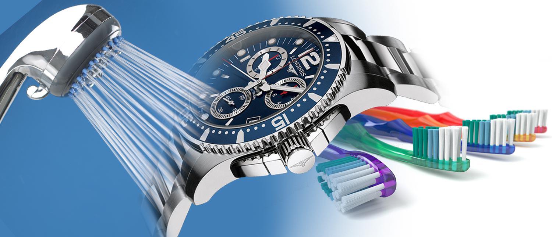 độ chống nước của đồng hồ không áp dụng dưới vòi sen