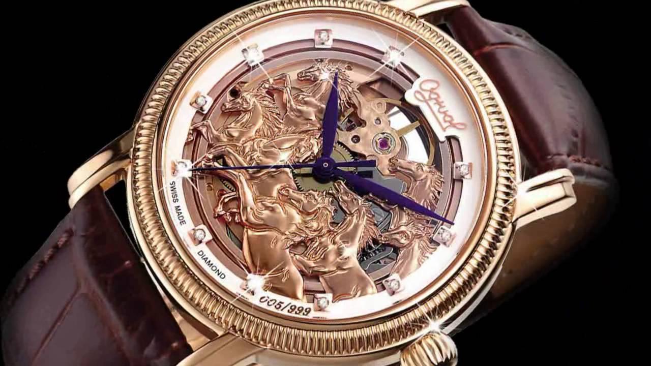 đồng hồ đeo tay mạ vàng 18k siêu sang