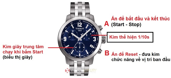 Hướng dẫn sử dụng đồng hồ Tissot 2, 3 và 6 kim chuẩn nhất