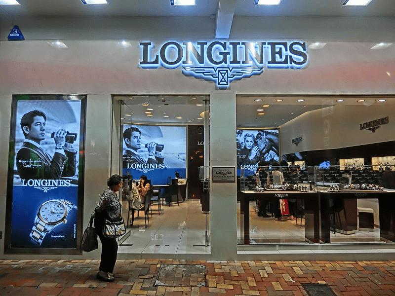 cửa hàng đồng hồ Longines