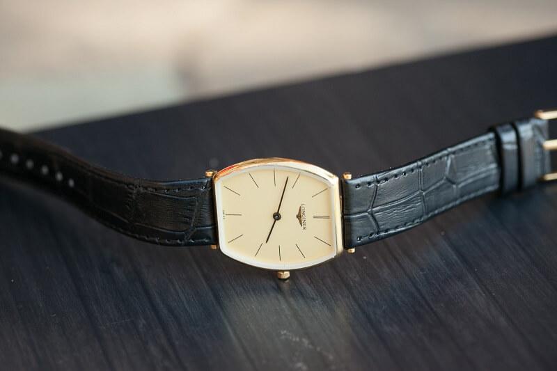đồng hồ Longines dây da nam