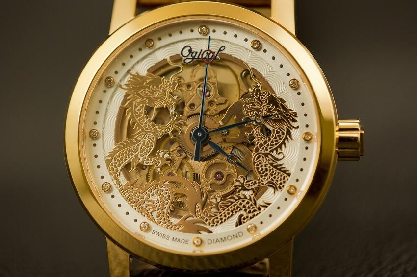 đồng hồ Ogival phiên bản rồng lưỡng long chầu nguyệt