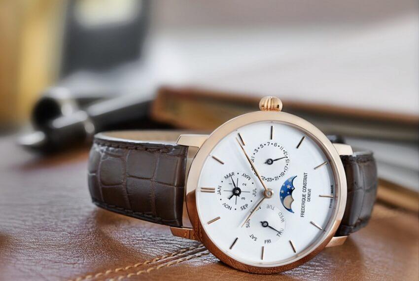 thiết kế truyền thống của thương hiệu đồng hồ frederique constant