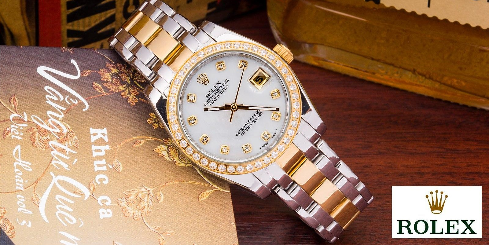 Đồng hồ nam đính đá Rolex