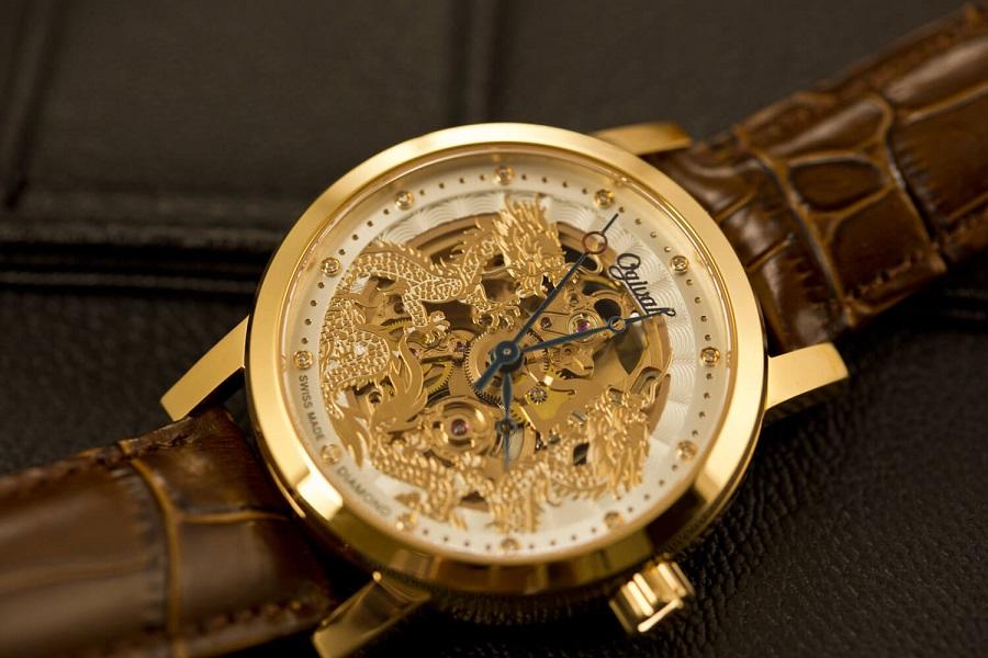 Đồng hồ nam đính đá Ogival