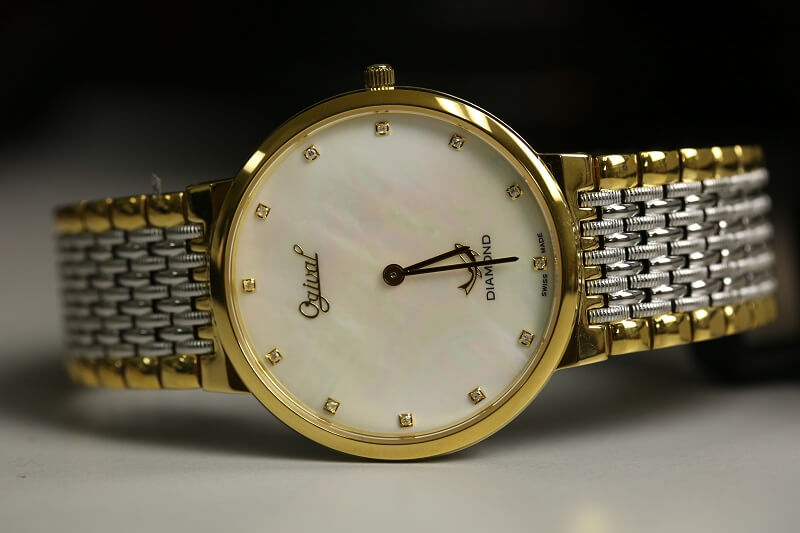 Đồng hồ Ogival khảm trai Ultra-thin