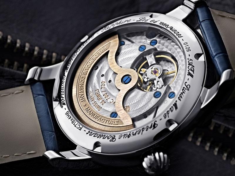 máy cao cấp của đồng hồ frederique constant worldtimer